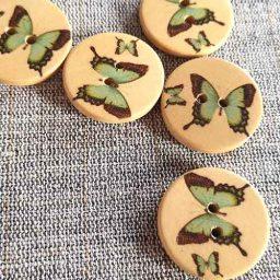 Wooden Butterfly buttons (25mm)