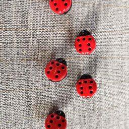 Ladybird buttons (15mm)