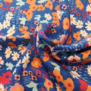 "Moda ""Botanica"" Rayon (blue/multi)"