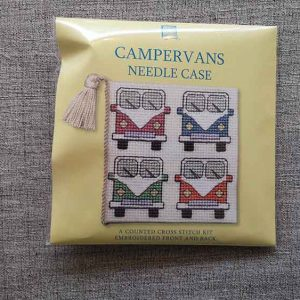 """Campervan"" Needle Case Cross Stitch Embroidery Kit"