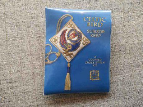 """Celtic Bird"" Scissor Keep Cross Stitch Embroidery Kit"