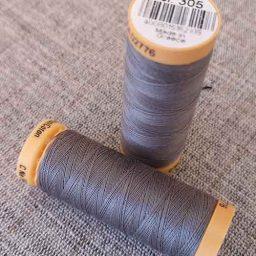 Gutermann Cotton Thread #305 (dark grey)