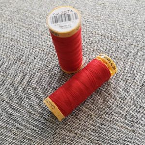 Gutermann Cotton Thread #2074 (red)