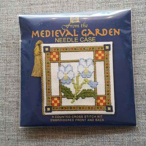 """Medieval Garden"" Needle Case Cross Stitch Embroidery Kit"