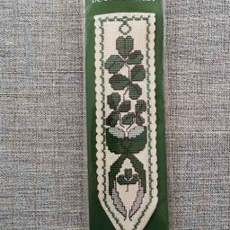 """Shamrock"" Bookmark Cross Stitch Embroidery Kit"