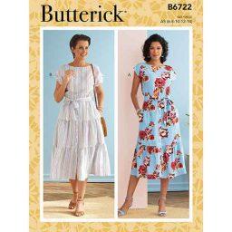 B6722 Misses' Dresses