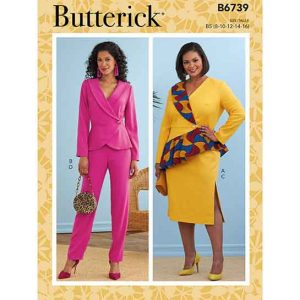 B6739 Misses' Jacket, Dress, Top, Skirt & Pants