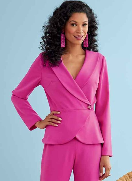 B6739 Misses' Jacket, Dress, Top, Skirt & Pants