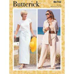 B6742 Misses'/Misses' Petite Elastic-Waist Skirts, Shorts and Pants