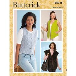 B6745 Misses' Vests in Five Styles