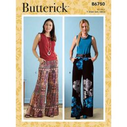 B6750 Misses' Elastic-Waist Shorts and Pants