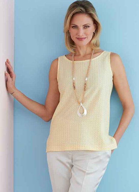 B6751 Misses'/Misses' Petite Pullover Tops