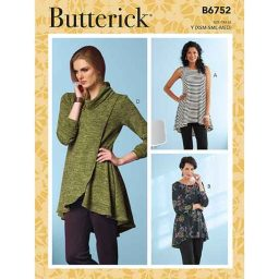 B6752 Misses' Fit and Flare Knit Tunics