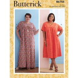 B6755 Misses' Asymmetrical-Detail Tunics