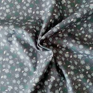 "John Louden 100% cotton poplin ""Mallow"" (grey/mint)"