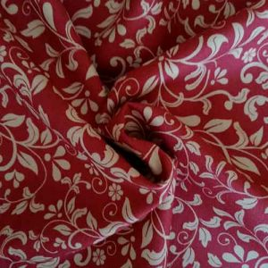 "John Louden 100% cotton poplin ""Laura"" (wine)"