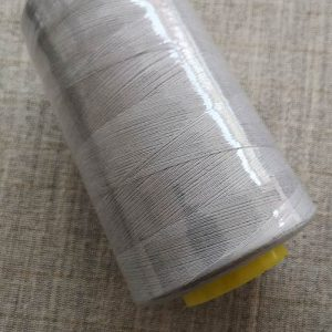 Overlocker/serger thread, 100% polyester, 5000 yds (light grey)