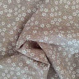 "Rose & Hubble 100% cotton poplin ""Frangipani"" (taupe)"