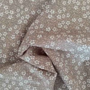 "Rose & Hubble 100% cotton poplin ""Frangipani"" (taupe)"