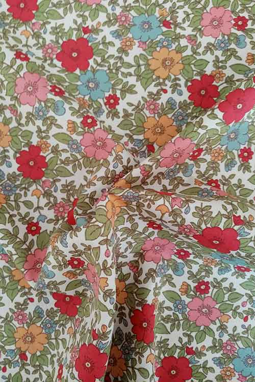 """Rose & Hubble 100% cotton poplin """"Polly"""" (red/navy)"""