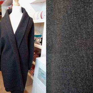 100% wool tweed coating (charcoal)