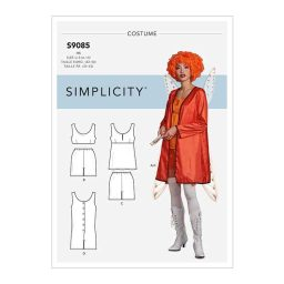 S9085 Misses' Historical Costume Robe, Tops, Bottoms & Rompers