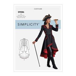 S9086 Misses' Steampunk Costume Coats