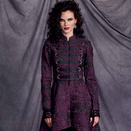 S9086 Misses' Steampunk Costume Coats