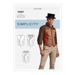 S9087 Men's Steampunk Corset Vests