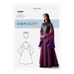 S9089 Misses' Fantasy Costume