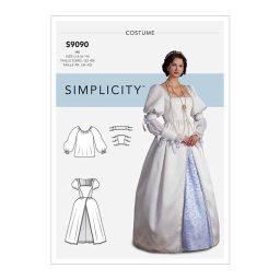 S9090 Misses' Historical Costume