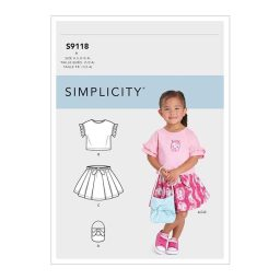 S9118 Toddlers' Tops, Skirts & Purse