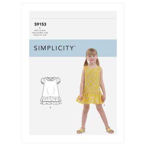 S9153 Children's Drop Waist Dress
