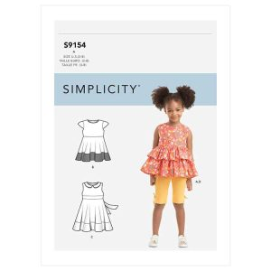 S9154 Children's Dress, Top, Tunic & Leggings