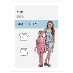 S9156 Children's & Girls' Top, Shorts, Dress & Romper.
