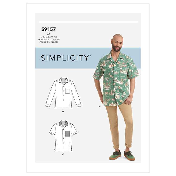 S9157 Men's Open Pointed Collar Shirts