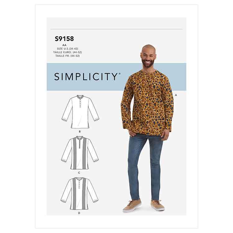 S9158 Men's Half Buttoned Shirts