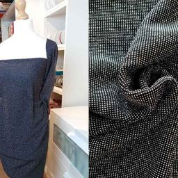 Polyester/lurex stretch mix (black/silver)