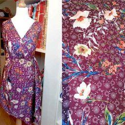 "Polyester print ""Damson Japonaise"""