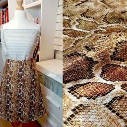 Faux snakeskin gold/bronze