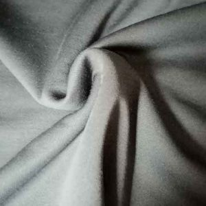 Polyester/wool mix stretch jersey (pewter)