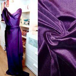 Stretch Velour (Damson/Purple)