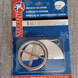 Maxant self-covered round belt buckle (38mm)