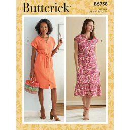 B6758 MISSES' & MISSES' PETITE DRESS