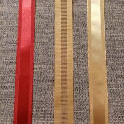 Festive striped satin ribbons (25mm)