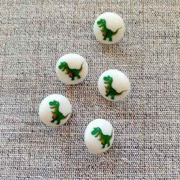 Dinosaur buttons (15mm)