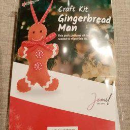 Felt gingerbread Christmas tree decoration kit