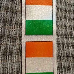 Irish tricolor flag satin ribbon (35mm)