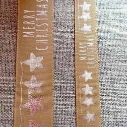 Gold/silver Merry Christmas ribbon