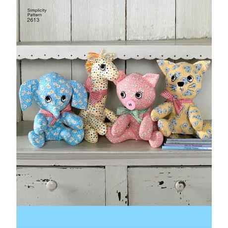 S2613 Two pattern piece stuffed animals